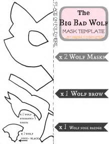 wolf mask template freshly completed the big bad wolf costume tutorial