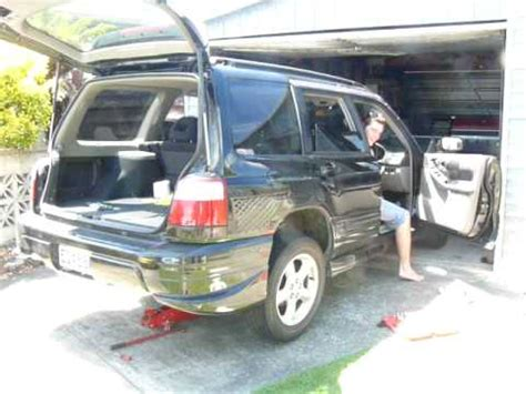 2001 subaru forester exhaust system subaru forester st b 2001 with a wrx sti exhaust