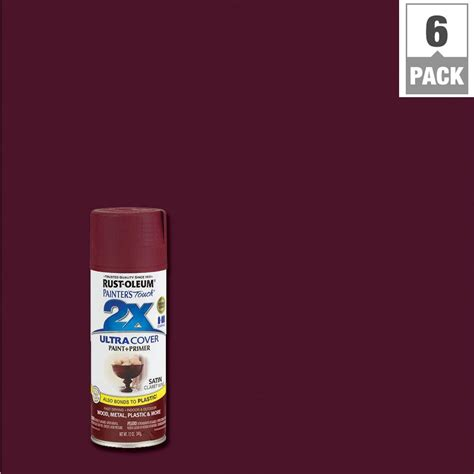 spray painter rust oleum painter s touch 2x 12 oz satin claret wine