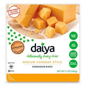 daiya block medium cheddar style the cruelty free shop