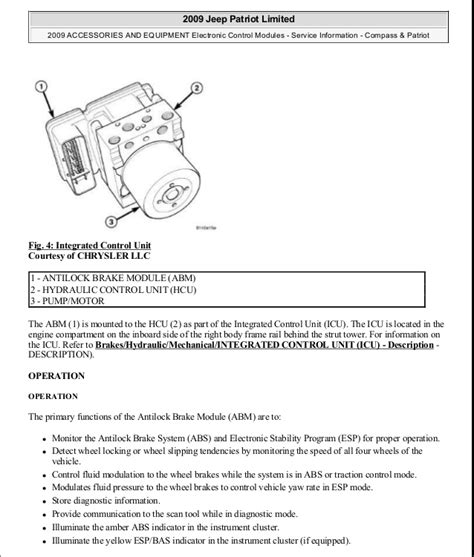 motor repair manual 2009 jeep patriot transmission control manual reparacion jeep compass patriot limited 2007 2009 electronic
