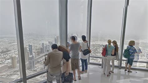 burj khalifa observation deck height view captures the view from the world s
