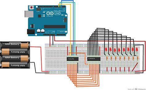 transistor darlington uln2803 arduino use a shift register 74hc595 and a transistor array uln2803 erwan s