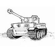 Tiger Tank Coloring Page  Free Printable Pages