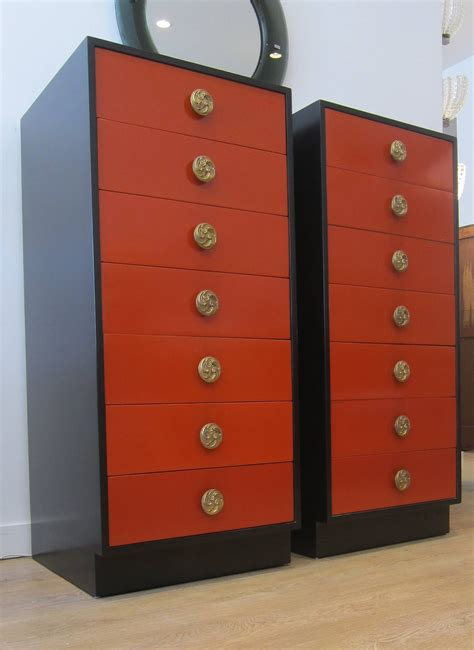 pair  tall lingerie chest  drawers  stdibs