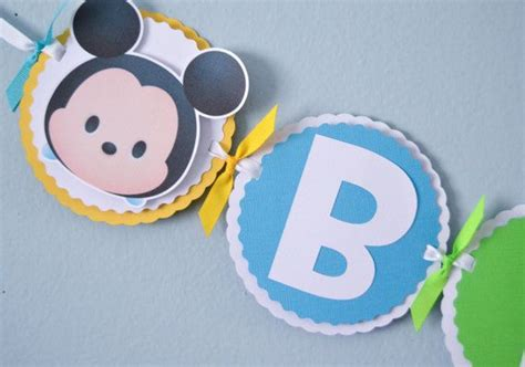 Banner Bunting Flag Happy Birthday Tsum Tsum 1000 images about tsum tsum on disney disney and mickey minnie mouse