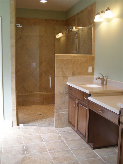 Bathroom Showers Without Doors Walk In Shower Doors Corner Walk In Tile Shower With Frameless Shower Door For The Home