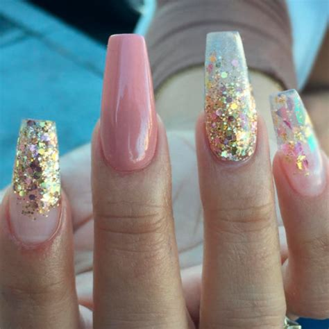 glitter nail ombre glitter acrylic nails www pixshark images
