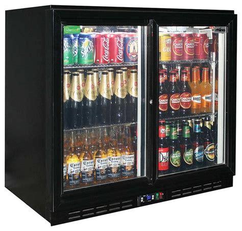 sliding 2 glass door bar fridge and