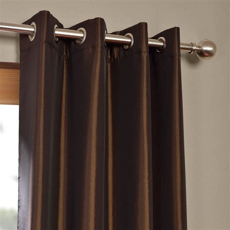 faux silk grommet curtains java grommet blackout faux silk taffeta curtain drapes