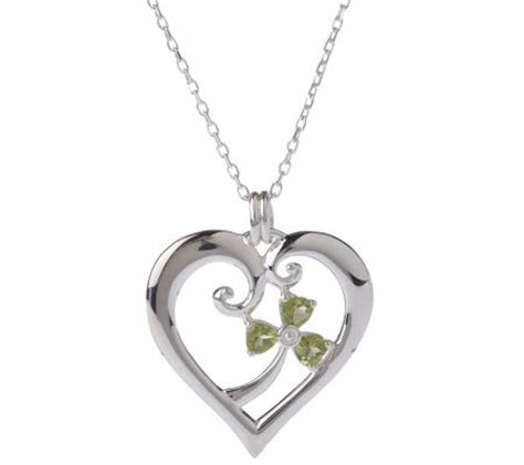 jmh jewellery sterling silver pendant with peridot