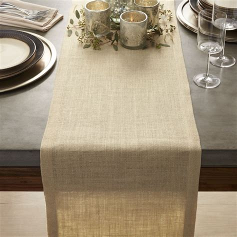 crate and barrel table runner gold jute table runner 120 quot crate and barrel