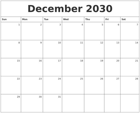 Calendars That Work April 2031 Calendars That Work