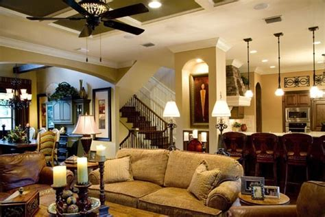tuscan traditional great room traditional family