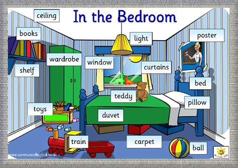 bedroom things english kids fun in the bedroom
