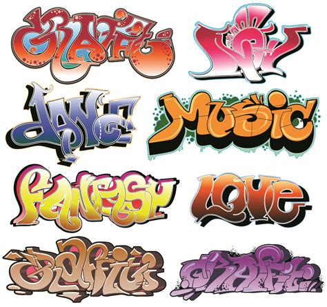vectorial design font beautiful graffiti font design 03 vector free vector 4vector