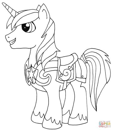 Shining Armor Coloring Page Free Printable Coloring Pages My Pony Coloring Pages Princess Cadence And Shining Armor