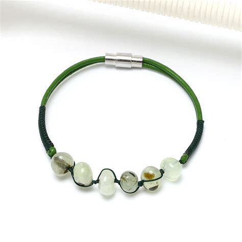 Handmade Leather Necklace - aobei pearl handmade leather necklace and bracelet for