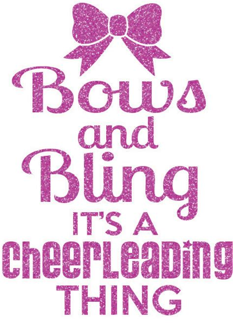 printable cheerleading quotes bows and bling cheer iron on decal by girlsloveglitter on etsy