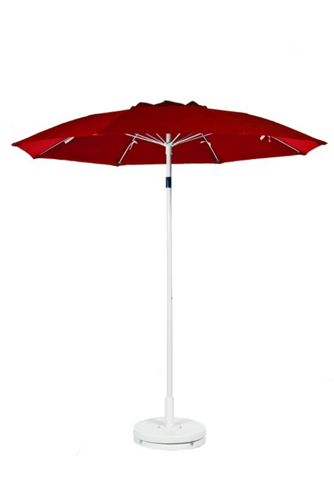 Logo Patio Umbrellas 7 1 2 Diameter With Vent No Valance Logo Patio Commercial Outdoor Umbrella Manual Lift