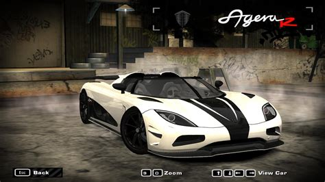 koenigsegg agera r need for speed most wanted location nfsmw gameplay mod koenigsegg agera r by pixelzx need