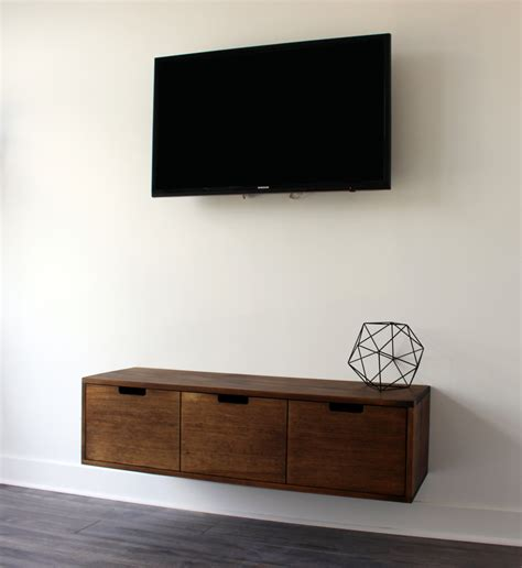 Salvaged Wood floating tv console cabinet stand that can be used also