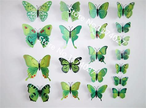 H023 3d Wall Sticker Butterfly Pvc Stiker Dinding Kupu Kupu Motif Te 12 pcs lot pvc 3d diy butterfly wall stickers home decor