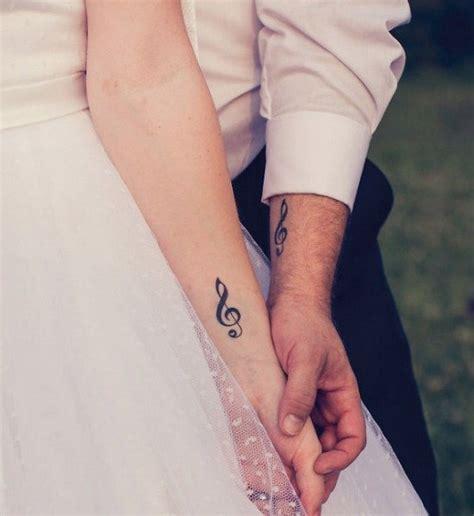 couple tattoo music 13 super cute matching couple tattoos cosmopolitan