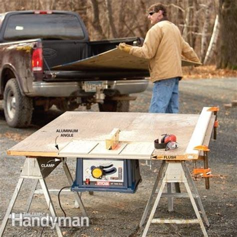 how to make a saw bench how to build a portable table saw table the family handyman