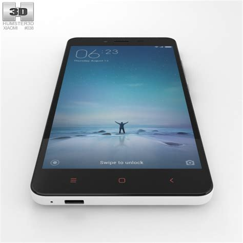 Xiaomi Redmi Note 2 White xiaomi redmi note 2 white 3d model hum3d