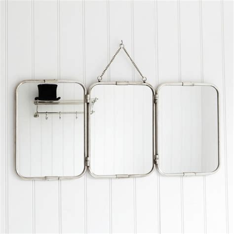 Tri Fold Bathroom Wall Mirror Objects Of Design 51 Trifold Mirror Mad About The House