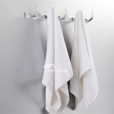 bathroom hook rack designer white aluminum alloy bath towel hook rack