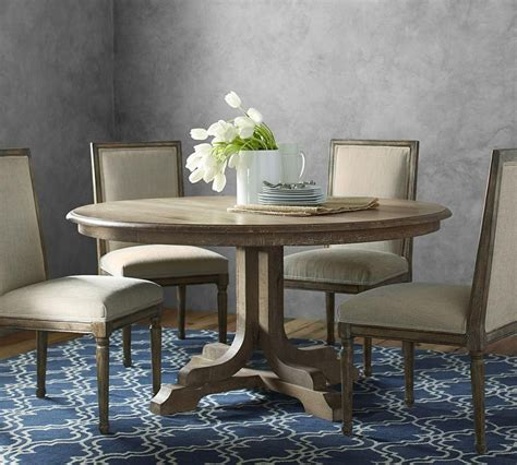 pottery barn kitchen furniture linden fixed round table pottery barn au