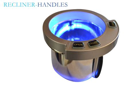 reclining with light up cup holders recliner cup holder with blue led lighting and touch