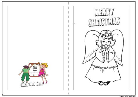 christmas card coloring page 03