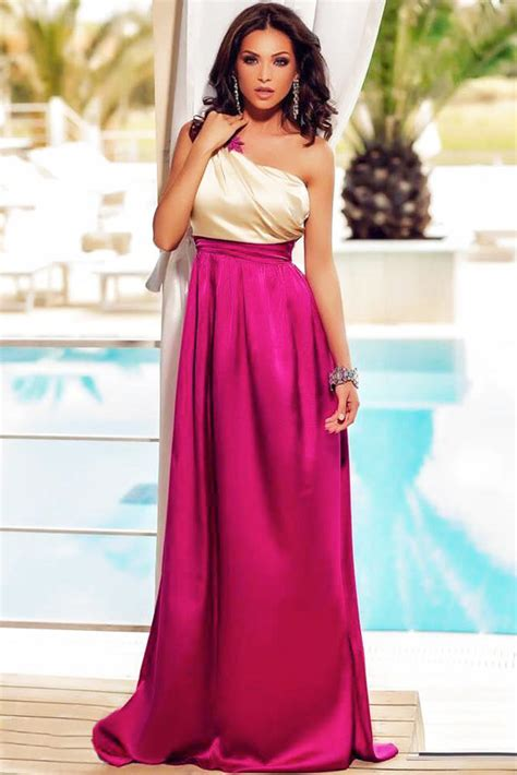 Gorgeous One Shoulder Dresses by 2016 Maxi Evening Dresses Gorgeous One Shoulder