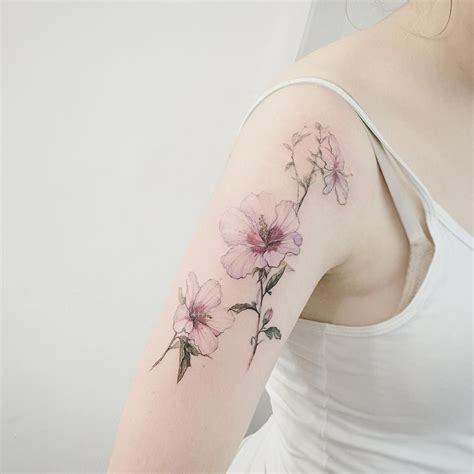botanical tattoo designs delicate botanical flower ink