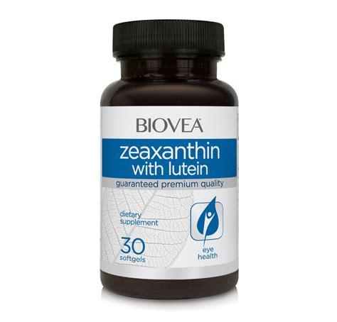 zeaxanthin lutein 30 softgels biovea supplements