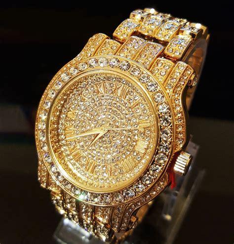 Bling Bling Rosegold 18k gold gold stainless steel iced out bling