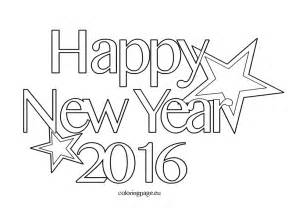 happy new year coloring pages coloring pages related to 2016 happy new year