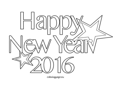 new year color page 2016 free coloring pages 2016 happy new year coloring page