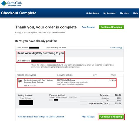 Can I Use My Sam S Club Gift Card At Walmart - sam s club membership and complete amex offer ordering process