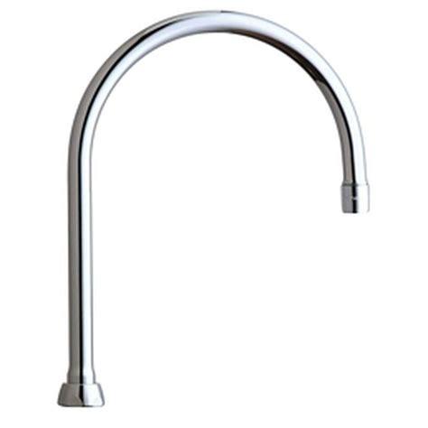 swing spout chicago faucets 8 in rigid swing gooseneck spout