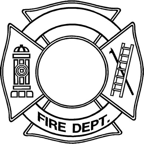 fire dept maltese cross coloring pages jpg 600 215 601
