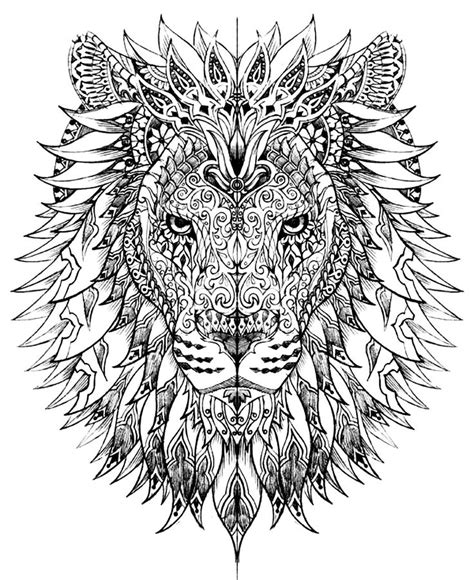 printable coloring pages lion free coloring pages of lion mandala