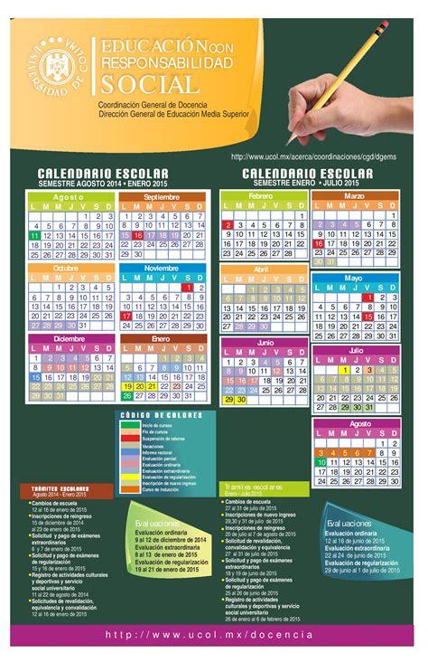 Calendario Escolar Ucol 2014 Universidad De Colima Alumnos Calendario Escolar