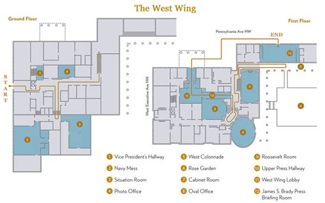 layout white house white house west wing map mess situation room rose house