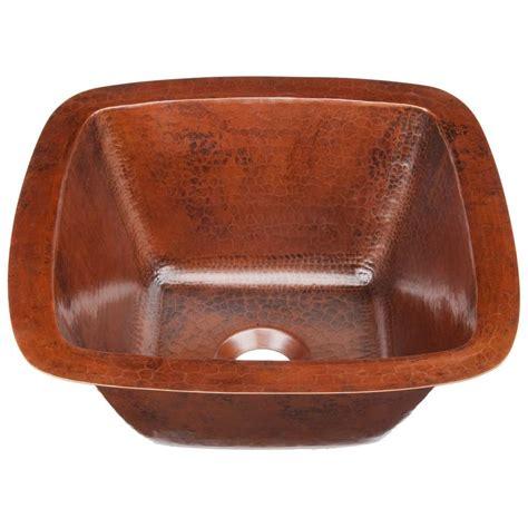 copper undermount bar sink sinkology pollock undermount handmade solid copper 12