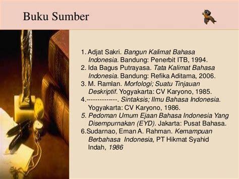 Sintaksis Bahasa Indonesia Pendekatan Proses Abdul Chaer Buku Bah 4 kata frase dan klausa dalam kalimat