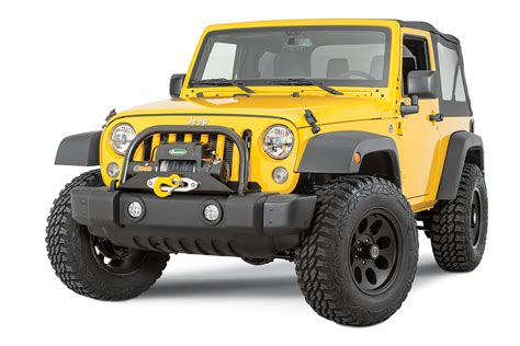 Jeep Wrangler Stubby Bumper Vertically Driven Products 31550 Stubby End Cap Kit For 07